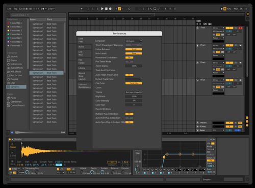 Test Theme 1 Theme for Ableton 10 by Maurice Waldminghaus