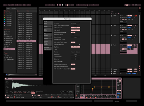 Otis pik Theme for Ableton 10 by Otis Ridley-Ehrlich