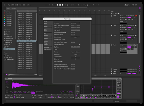 CLEAN PURPLE Theme for Ableton 10 by eddie