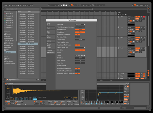 Dark and orange Theme for Ableton 10 by jack carter
