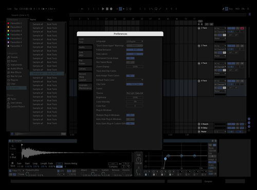 Black-blueish Theme for Ableton 10 by fernando
