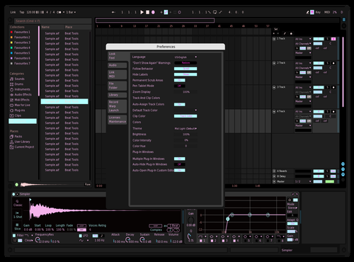Pastel Dark Theme for Ableton 10 by Kelly Silverman