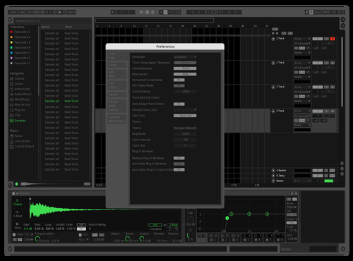 Spotify (Bright) Theme for Ableton 10 by Boris