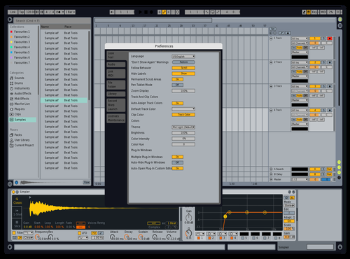FUJI Theme for Ableton 10 by Giacomo Timbrello