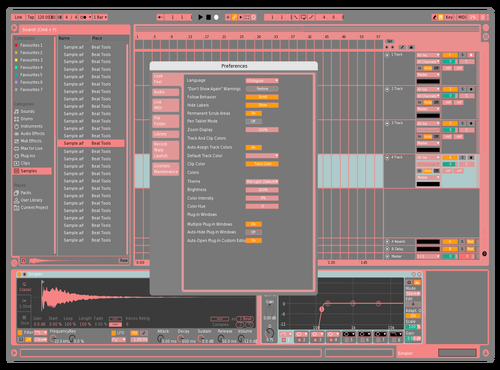 Red Lady Theme for Ableton 10 by Dancho Avramovski