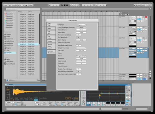 Grey Tilt Theme for Ableton 10 by Andi