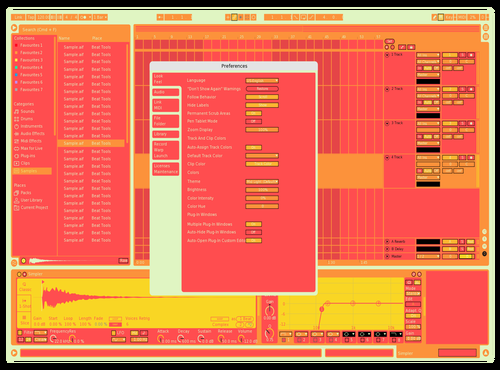 Creative Red Theme for Ableton 10 by Paul Fo