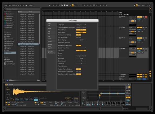 Dark Edit Theme for Ableton 10 by Sankalp zore