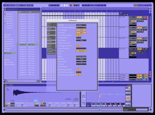 PURP PILL Theme for Ableton 10 by Fletcher Hendrickson