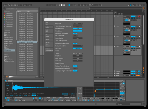 Blue Tint Theme for Ableton 10 by Mark