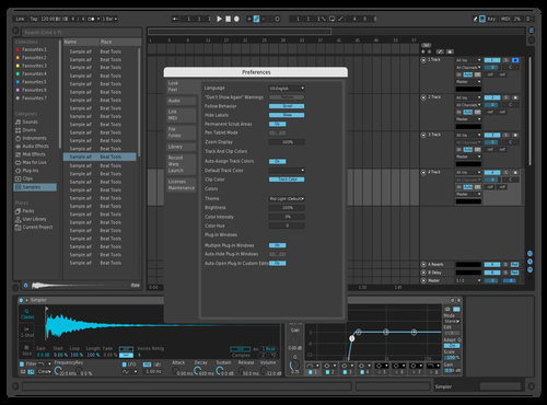 Simple Blue Theme for Ableton 10 by AllexB