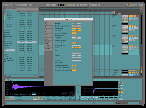 Cool blue Theme for Ableton 10 by thomas niebla