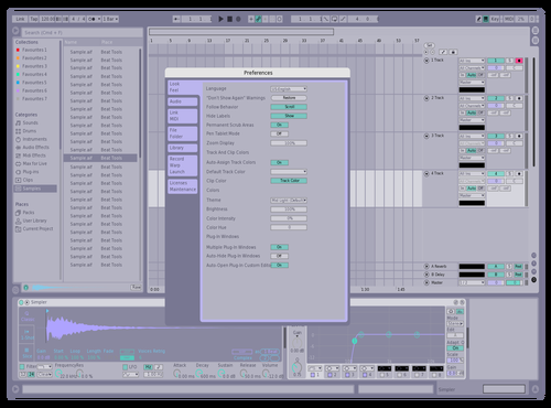 Pastel 1 Theme for Ableton 10 by Garrit