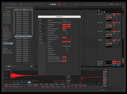 Modern Red 2 Theme for Ableton 10 by Abel