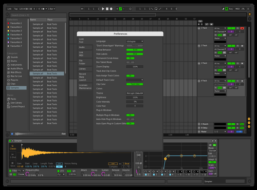 Dark with 4 changes Theme for Ableton 10 by DubPixie
