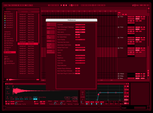 Big red cringe ok Theme for Ableton 10 by Zac