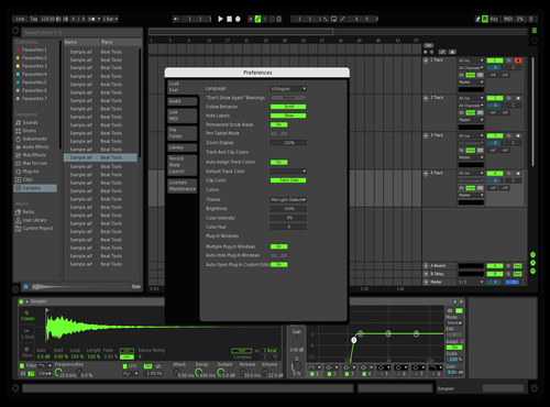 Green Theme for Ableton 10 by Shawn