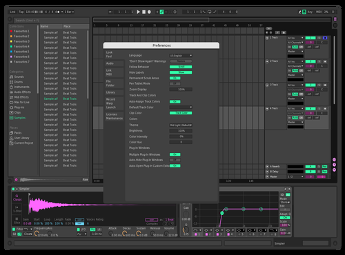 Test Theme for Ableton 10 by misterxenon