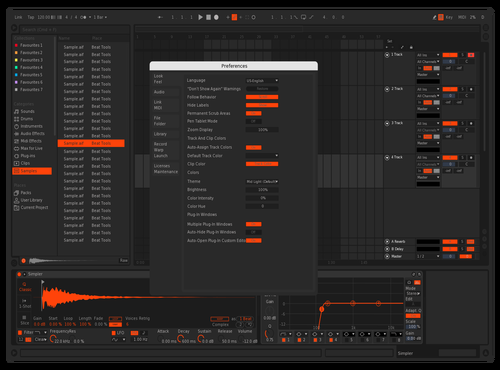 CFA Dark - Fire Theme for Ableton 10 by Cyforce