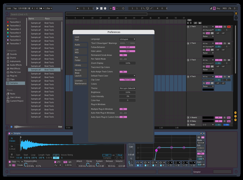 Blue/Pink Theme for Ableton 10 by Gunso