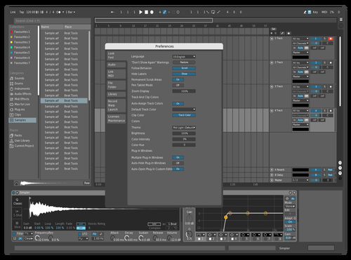 White and Blue Theme for Ableton 10 by simon