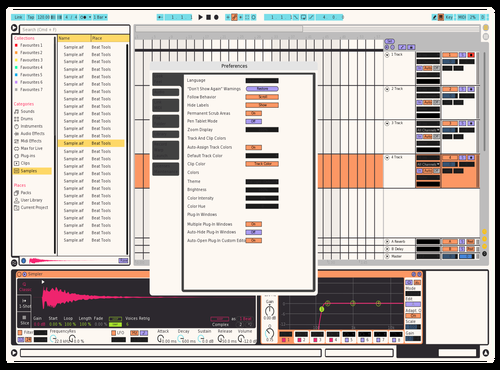 Monokai Pro Light Theme for Ableton 10 by Bryan Jiang