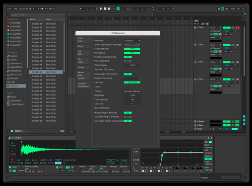Ymg pinky blue Theme for Ableton 10 by Yiming Xia