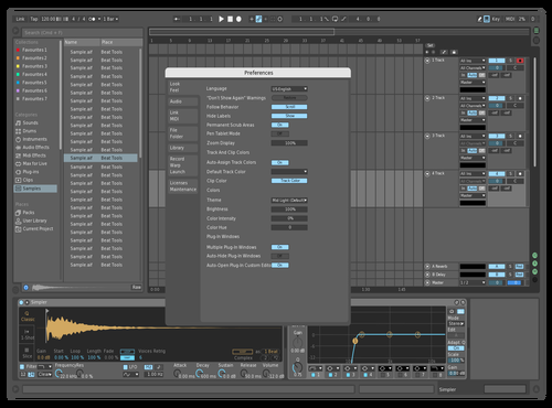 Nightcruiser blue Theme for Ableton 10 by frank