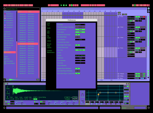 Purple Shampoo Theme for Ableton 10 by Bradley Tostengard