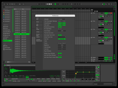 Dark Grey & Green Theme for Ableton 10 by Lascu Music