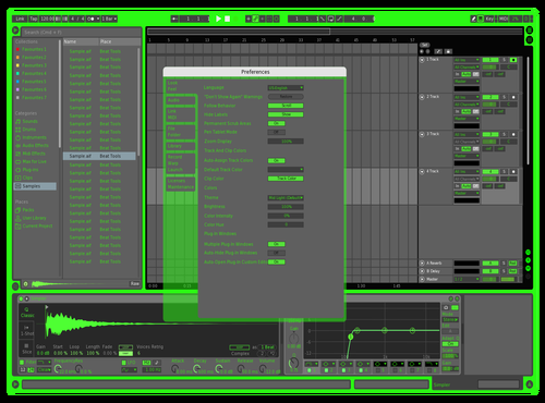 Rogue Green Theme for Ableton 10 by Kyle Armstrong