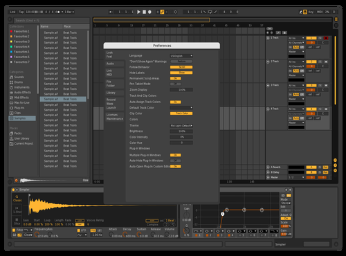 Dark & Yellow Theme for Ableton 10 by PropagandaPaul