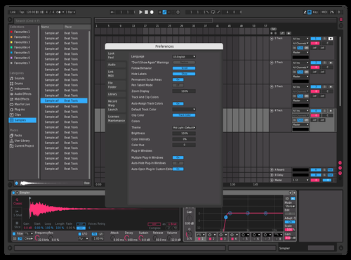 Pink n' Blue Theme for Ableton 10 by Linder Gontijo