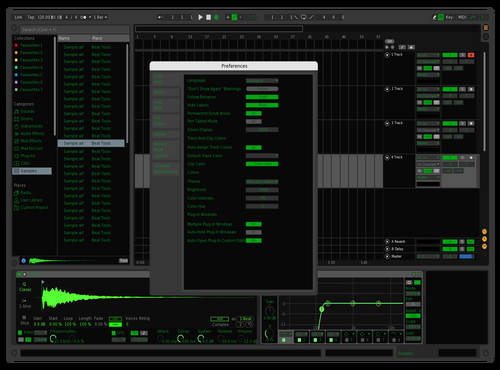 Rogue Green 2 dark Theme for Ableton 10 by Kyle Armstrong