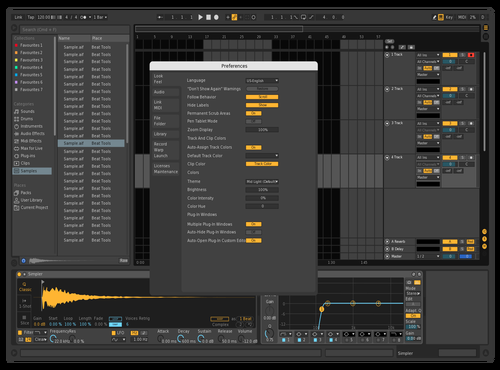 Dark Grid Theme for Ableton 10 by Tsahi