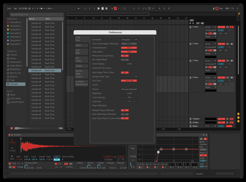 Dark red Theme for Ableton 10 by Moriz Wohlleben