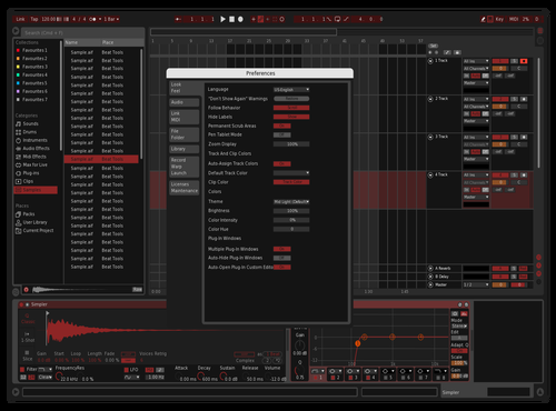 Blood red Theme for Ableton 10 by diefex