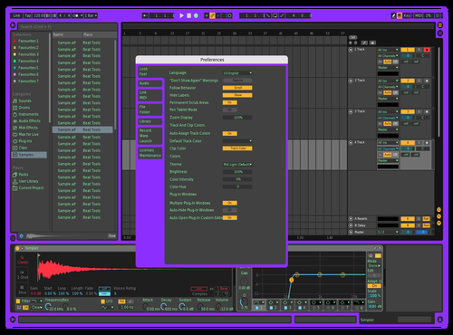 Purps Theme for Ableton 10 by Gavin