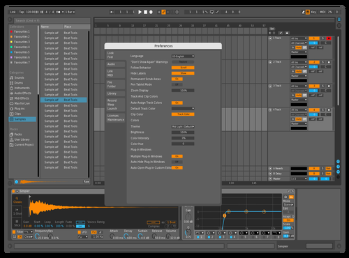 Dark Star Wars Light Theme for Ableton 10 by Babeleton