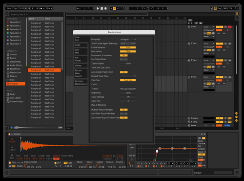 CL edited dark orange Theme for Ableton 10 by Cher Levy