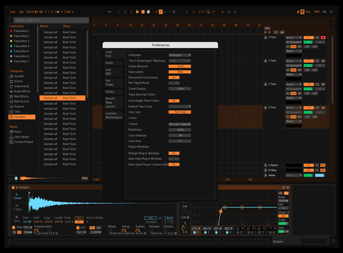 One tweak Theme for Ableton 10 by LIEN WEI