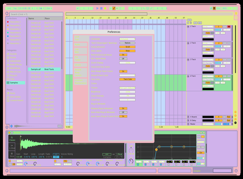 AAPASTEL Theme for Ableton 10 by Ardian Sefedini