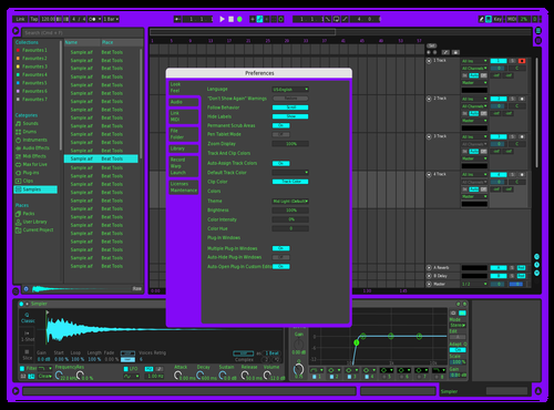 Purple Theme for Ableton 10 by Gavin