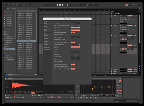 Dark + Red Theme for Ableton 10 by Momo Momin