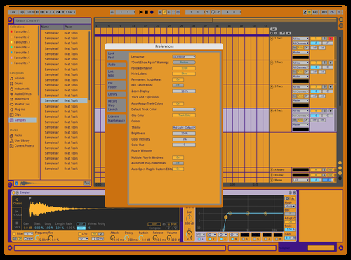 Wc yellow Theme for Ableton 10