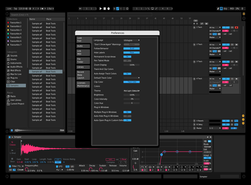 Pink Blue Black Theme for Ableton 10 by Angus