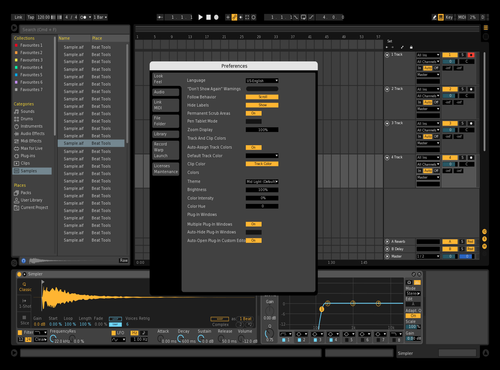 Dark Theme for Ableton 10 by kev