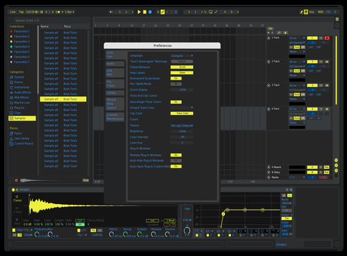 Electric blue Theme for Ableton 10 by Javier