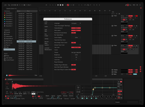 Spexx 1 (RED) Theme for Ableton 10 by Dylan