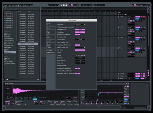 Sandymadanu purple Theme for Ableton 10 by Sand Madanu